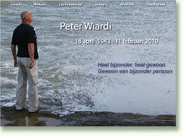 Website voor Peter Wiardi